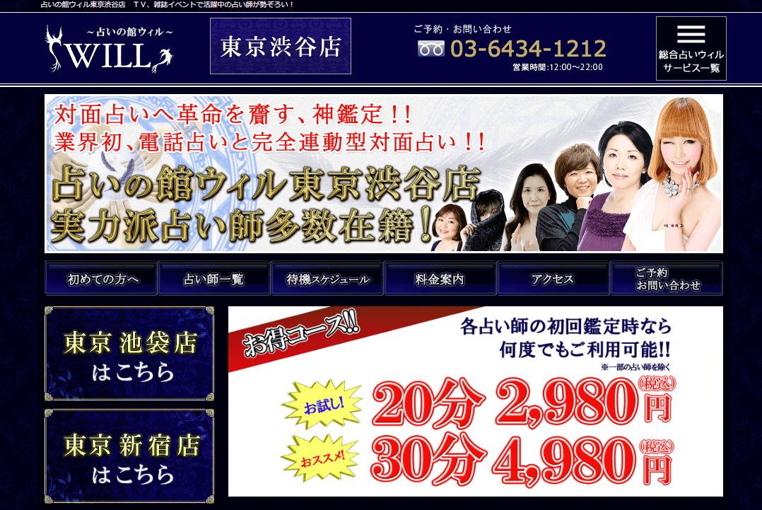 【東京占い】占いの館ウィルの詳細や口コミ評判は→コチラ